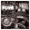 Engine Room Details. Fireboat JJ Harvey. NY.