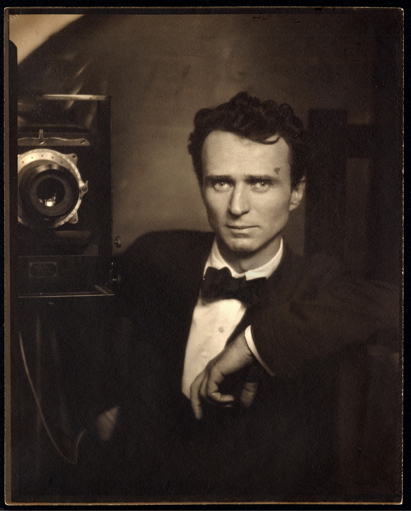 Edward Steichen. Self-Portrait with studio camera c.1917